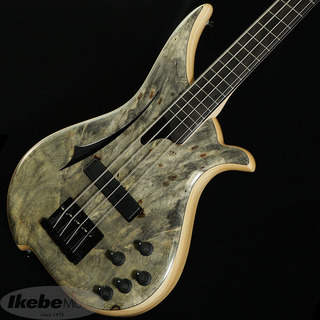 "Tune WBC-4 Fretless ""Buckeye Burl "" w/Luminlay Fret Line & Dot Mark"