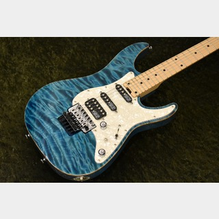 SCHECTER EX-4-24-CTM-FRT -Indigo Light Blue-【4A Quilted Maple Top】【極上フレイムトップ!】