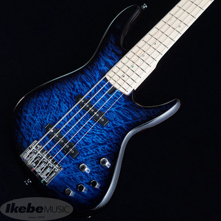 "T's Omni Bass 5/22 M/Ash ""Quilted Maple Top"" (Arctic Blue)"