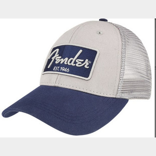 Fender Embroidered 3D Snap Back Hat, Chrome & Navy 【御茶ノ水本店】