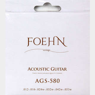 FOEHNAGS-580 Acoustic Guitar Strings Light 80/20 Bronze アコースティックギター弦 12-53
