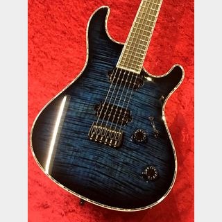 MAYONES Regius 6K -Trans Dirty Blue Burst Gloss-【Custom Order Model】 【分割48回まで無金利】