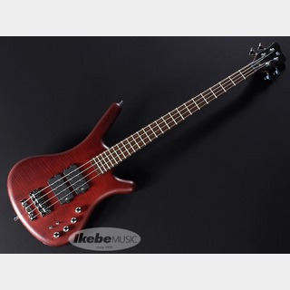 "Warwick Teambuilt GPS Corvette$$ 4 ""Flame Maple Top"" (Burgund Red Transparent Satin)"