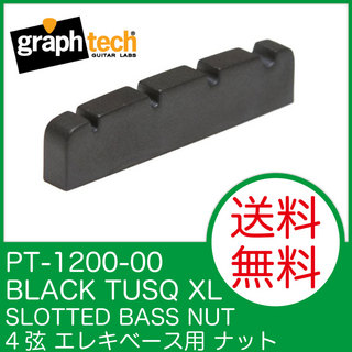 Graph Tech PT-1200-00 BLACK TUSQ XL 4 STRING SLOTTED BASS NUT ナット