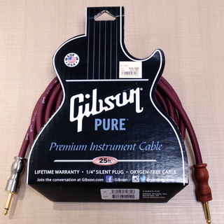 GibsonInstrument Cable 25'  約7.6m/Cherry(チェリー) CAB25-CH