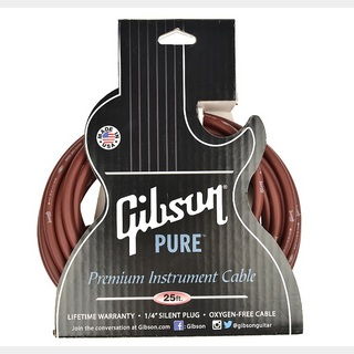 Gibson Instrument Cable CAB25-CH /25ft Cherry