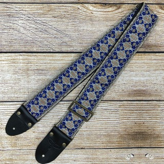 "Paul Reed Smith(PRS)2"" PRS Retro Design Guitar Strap (Limited) Blue/Silver 106356:021 限定モデル"