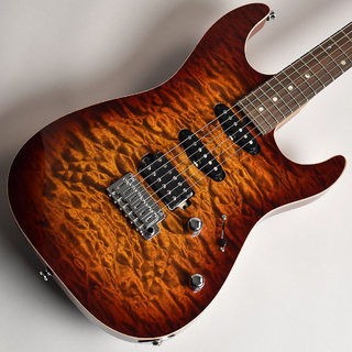 T's Guitars DST-22 Quilt Top Rosted Flame Maple Neck Tiger Eye Burst S/N:031593 【未展示品】