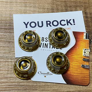 CreamTone Aged Gold Bonnet Knobs