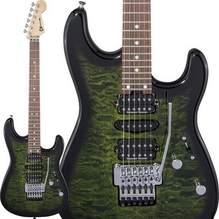 Charvel MJ San Dimas Style 1 HSH FR PF QM (Transparent Green Burst) [Made In Japan]