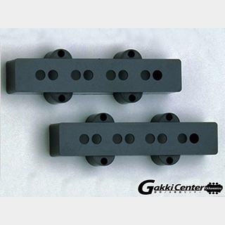 ALLPARTS Pickup covers for Jazz Bass Black/8236