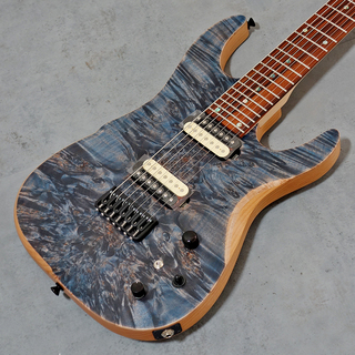 dragonfly SOTTILE CUSTOM 7st 666 #3 Flame Burl Maple Dark Nebula Blue