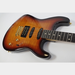 J.W.Black Guitars JWB-S -Killer Bent Top- Burnt Amber Sunburst