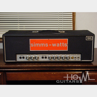 Simms Watts 1969年製 AP100 MK-1 100W Head Amp [UK SOUND!!]