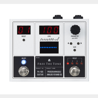 Free The TonePA-1QG PROGRAMMABLE ANALOG 10 BAND EQ ギター用イコライザー 【WEBSHOP】