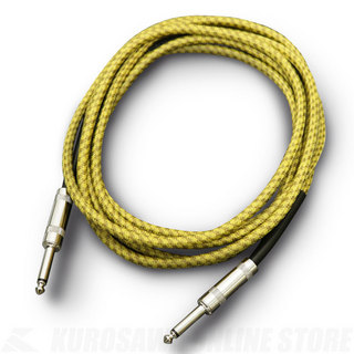 Nine music Tweed Professional Guitar Cable Yellow 3m S/S《ギターケーブル》