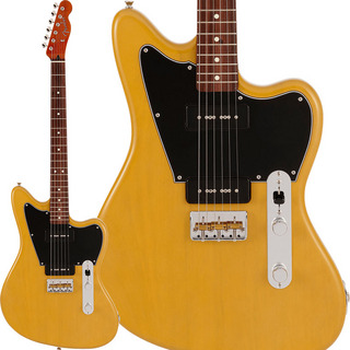 Fender Made in Japan Limited Mahogany Offset Telecaster P90 (Yellow Trans)