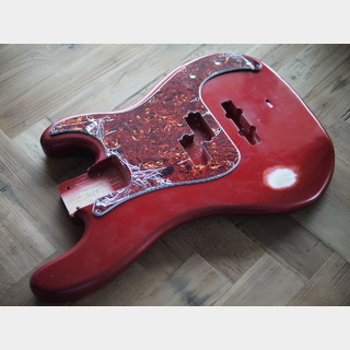 MJT Precision Bass Body - Alder - Candy Apple Red - Medium Relic