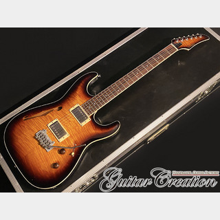 Combat ST WARM Set-Neck 2006年製【Sunburst】~Killer Flame Maple Arch Top~ 3.33kg