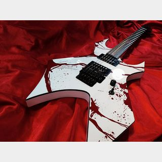 B.C.Rich Joey Jordison Warlock II White-Blood Splatter