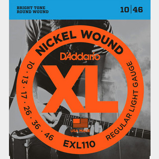 D'Addario EXL110 Regular Light 10-46 エレキギター弦【WEBSHOP】