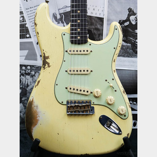 Fender Custom Shop Guitar Planet Exclusive 1959 Stratocaster Heavy Relic -Aged Vintage White-