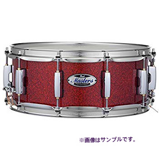 "PEARL パール MCT1455S/C #346 バーミリオンスパークル 14""x5.5"" スネア ケース付き Masters Maple Complete"