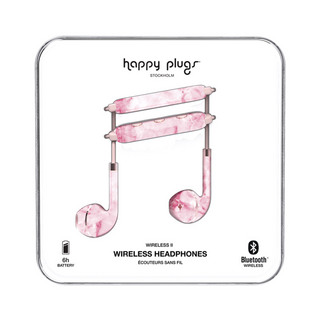 HAPPY PLUGS Wireless II 7629 Pink Marble ワイヤレスイヤホン