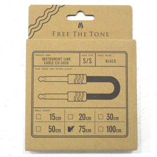 Free The Tone INSTRUMENT LINK CABLE CU-5050 75cm S/S