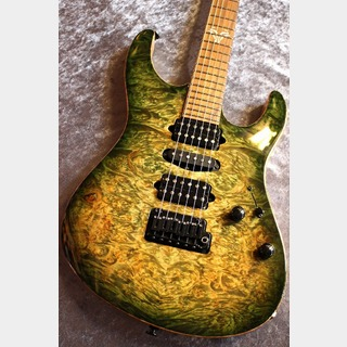 Suhr(並行輸入品ほか) Custom Modern Hand Selected NAMM Top Water Fall Maple Faded Trans Green Burst【池袋店在庫品】
