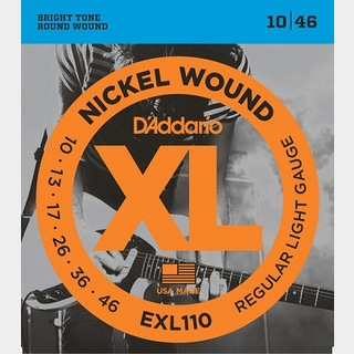 D'Addario EXL110 XL NICKEL Electric Guitar Strings Regular Light 10-46 【渋谷店】