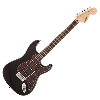 Squier by Fender FSR Affinity Series Stratocaster Laurel Fingerboard Black with Tortoiseshell Pickguard