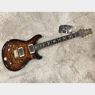 Paul Reed Smith(PRS) Custom 22 10top Quilt Black Gold Burst w/Pattern Neck 【アウトレット特価】【2017年製】