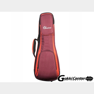 Ohana UkulelesOhana DSC-24 OR Deluxe Soft Case, Concert, 30/60mm Padding(Orange/Burgandy)