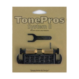 TONE PROS AVT2G-B Wraparound Bridge ブラック ギター用ブリッジ