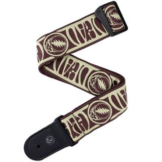 D'AddarioGrateful Dead Woven Strap Steal Your Face (Tan/Brown)[50GD01]