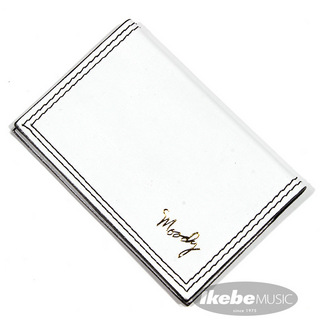 moody Leather Wallet [White/Black]