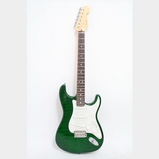 Fender Custom Shop Custom 1963 Stratocaster Quilt Maple Top N.O.S. / Dark Emerald Green Transparent