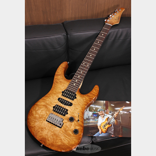 "Suhr(正規輸入品) J Select Modern ""Burl Maple Top & Matching Figured Headstock"" Natural Burst/Indian Rosewood SN.JS6Y4"