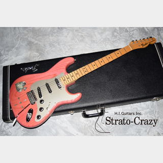 "Fender ""Strato-Crazy"" Original Collector's Vintage Compo Late 60s Bonnie Pink/Maple neck Stratocaster"