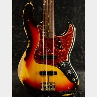 Fender Custom Shop ~2019 Custom Collection~ 1961 Jazz Bass Heavy Relic - 3 Color Sunburst - 【4.17kg】
