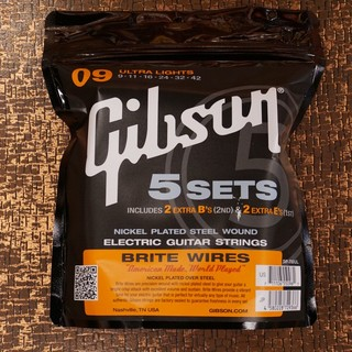 Gibson SVP-700UL [エレキギター弦] Brite Wires ULTRA LIGHTS 009-042 5sets