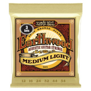 ERNIE BALL3003 Earthwood Medium Light 80/20 Bronze 3 Pack 12-54 Gauge アコースティックギター弦