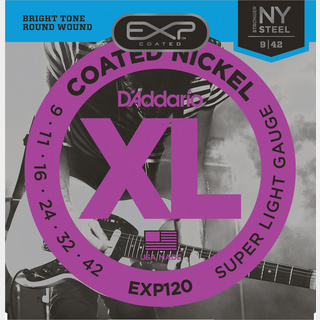 D'Addario EXP Coated Nickel Round Wound EXP Coated Super Light EXP120