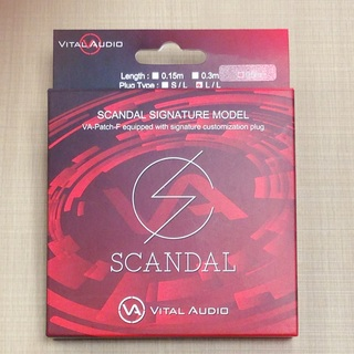 Vital Audio VA-Patch-F/SD 0.5m L/L(ショート) SCANDAL Signature Model Cable【数量限定特価】