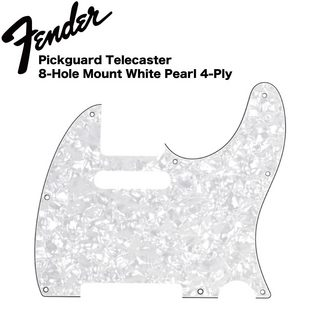 FenderMulti-Ply Telecaster 8-Hole 4-Ply White Pearl ピックガード