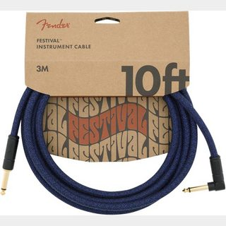 Fender10' Angled Festival Instrument Cable Pure Hemp Blue Dream 約3M シールド