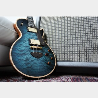 Bizen Works Grain Arched Quilted Maple Top Jacaranda FB -Dark Blue Burst-【ショッピングクレジット48回無金利!!】