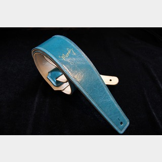 "moodyMoody Straps Leather/Leather 2.5"" Standard Sapphire Blue/Cream"