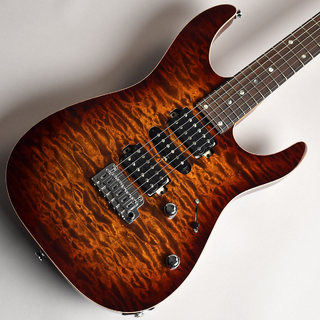 T's Guitars DST-24 Quilt Top Rosted Flame Maple Neck Tiger Eye Burst S/N:031597 【未展示品】